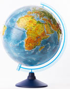 GLOBEN Глобус Земли физический рельефный 320 серия Евро
