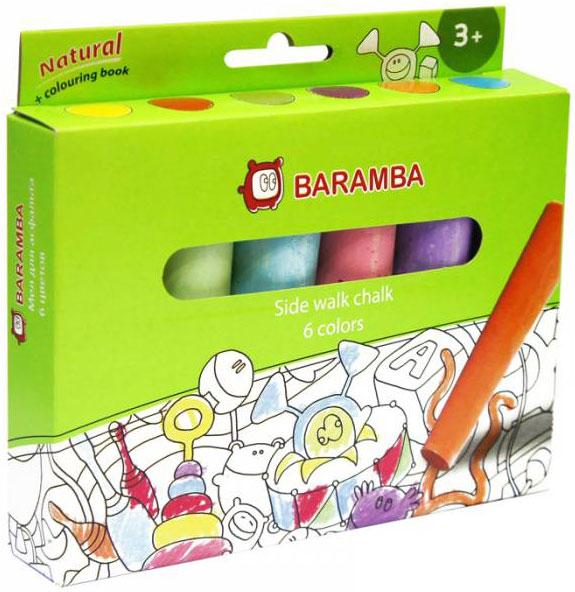Baramba Мелки цветные для асфальта, 6цв.