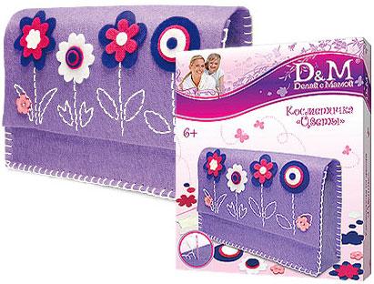 """Делай с мамой Косметичка """"Цветы"""" в коробке (Делай с мамой, D&M)"""