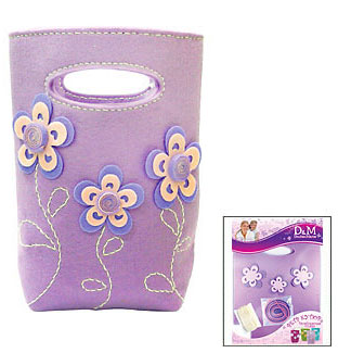 """Делай с мамой Дизайнерская сумка """"Лиловые цветы"""" (Делай с мамой, D&M)"""